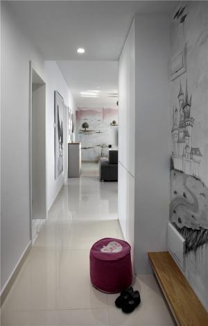 65平小户型装修走廊背景
