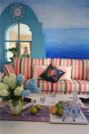 新古典客厅沙发布局