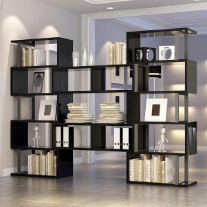 简易书柜现代黑色搭配