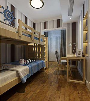 两室一厅的儿童卧室高低床