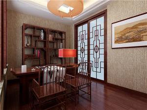 中式书房装修效果图红木古典家具