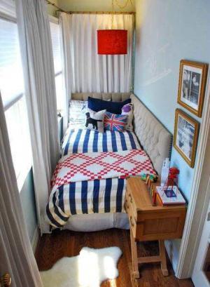 超小户型的小阳台改卧室效