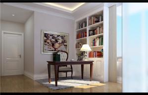 客厅的开放式书房装修效果图