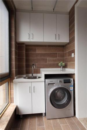 洗衣机放阳台效果图实景图
