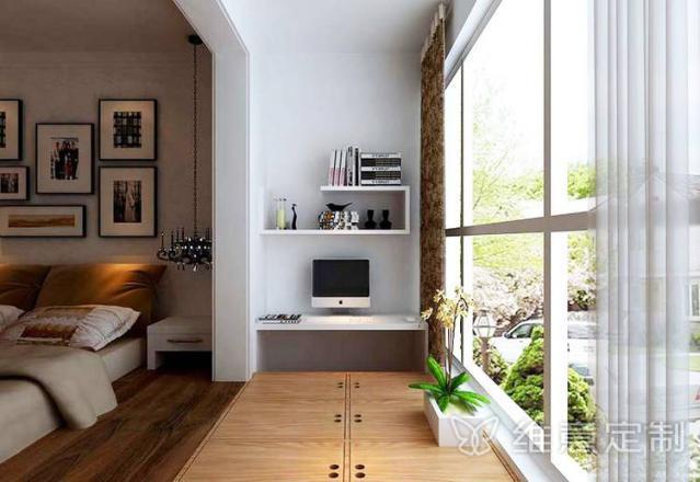 阳台书柜踏踏米收纳造型 维意定制家具网上商城