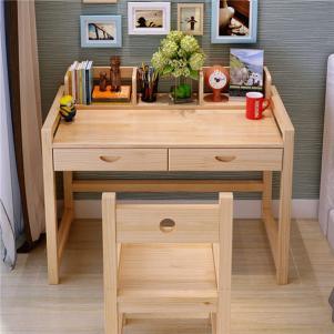 实木儿童可升降学习桌