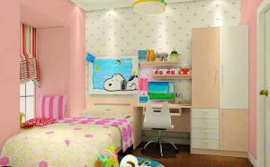 鲜艳儿童房墙纸效果图
