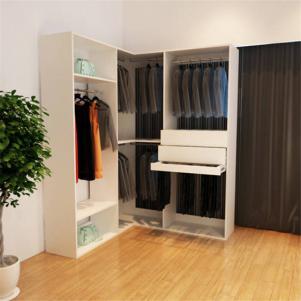 新古典卧室转角衣柜