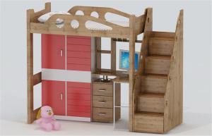 儿童床书桌3D模型