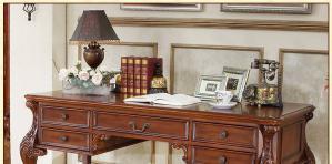 美式书桌实拍图