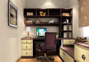 书房榻榻米卧室设计3D效