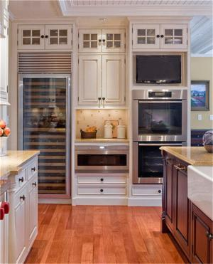 别墅厨房酒柜装修效果图