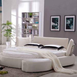 子床符合面料圆形床卧室效