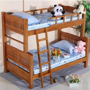 实木子母高低床儿童家具上下床定制