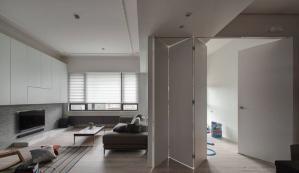 混搭简约客厅隐形门装修效