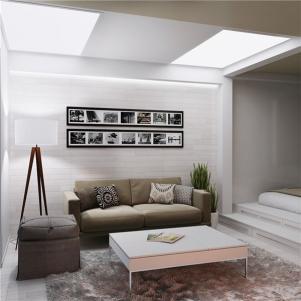 双层小户型装修沙发背景墙