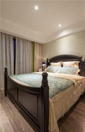 中式实木床家具图片