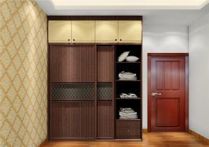 卧室转角衣柜装饰