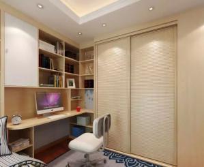 转角卧室转角书桌加衣柜