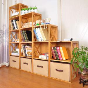儿童简易书柜实木收纳创意