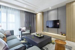 新中式风格时尚客厅电视背