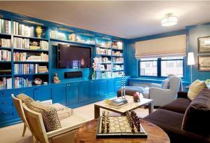 色彩多芬的家庭书房装修效果图
