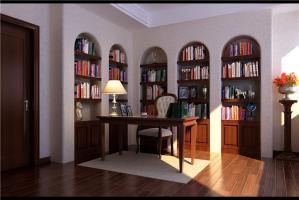 多功能书房装修效果图定制家具