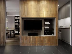 小户型公寓型卧室电视背景