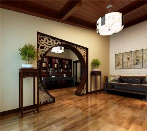 古典书房装修效果图雕花设