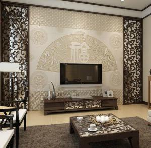 精致的中式电视背景墙