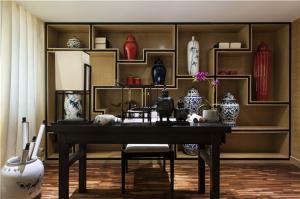 中式书桌书房设计