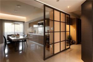 现代厨房厨柜实景图