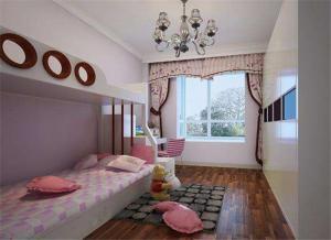 公主房卧室高低床装修效果