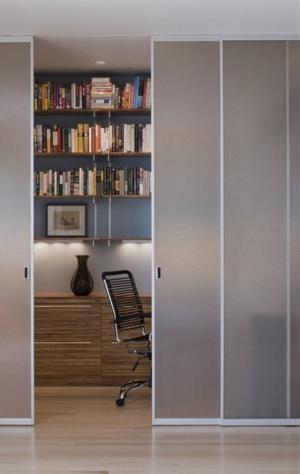 书房卧室隐形门装修效果图
