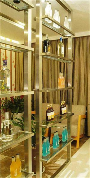 不锈钢家庭酒柜装修