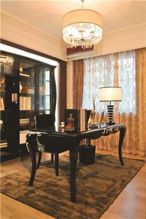小书房书柜带书桌