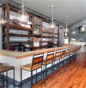 西餐厅现代酒柜
