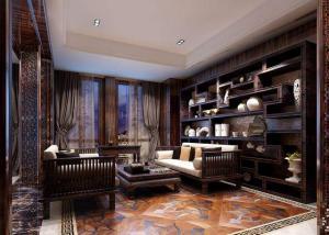 室内设计中式书房装修效果图