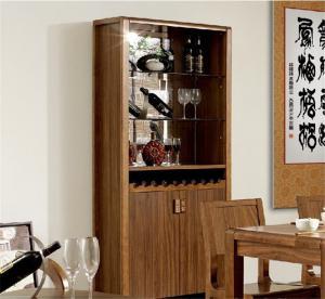 中式全实木套装家用酒柜
