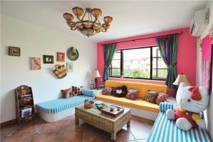 现代客厅家具实拍图