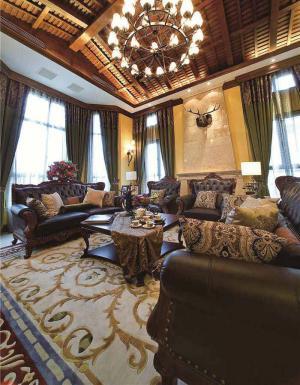豪华客厅沙发布局