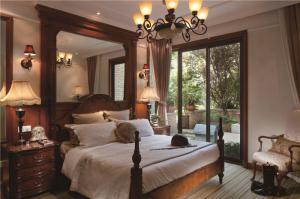 简欧卧室飘窗设计图片