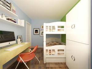卧室高低床装修效果图儿童