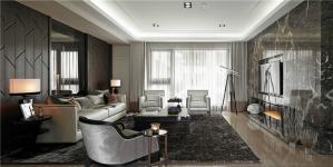 欧式沙发背景墙装修设计效果