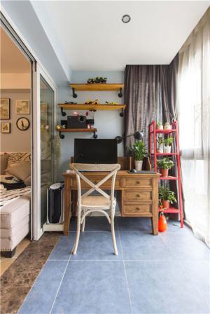 阳台改书房效果图家具用品
