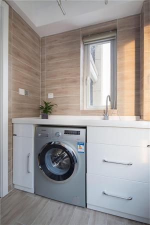 阳台洗衣池效果图家具定制
