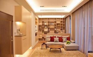 小户型客厅书柜墙展示柜