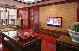 传统设计中式电视背景墙