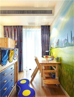 男孩儿童房壁纸背景图