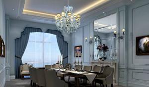 欧式背景墙餐厅设计